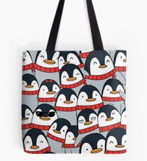 Merry Christmas Penguins! Tote Bag