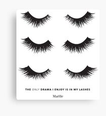 Triple lash drama - Maelle Canvas Print