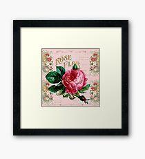 Vintage Paris Rose Framed Print