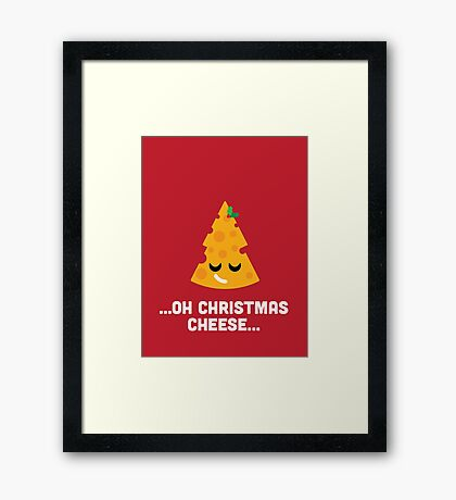 Christmas Character Building - Oh Christmas Cheese… Framed Print