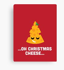 Christmas Character Building - Oh Christmas Cheese… Canvas Print