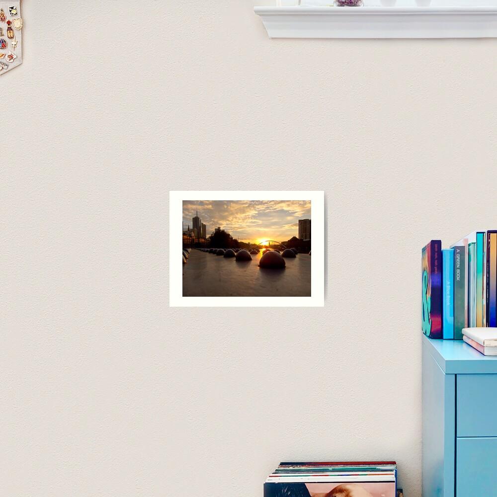 Riveting Southbank Sunrise Art Print