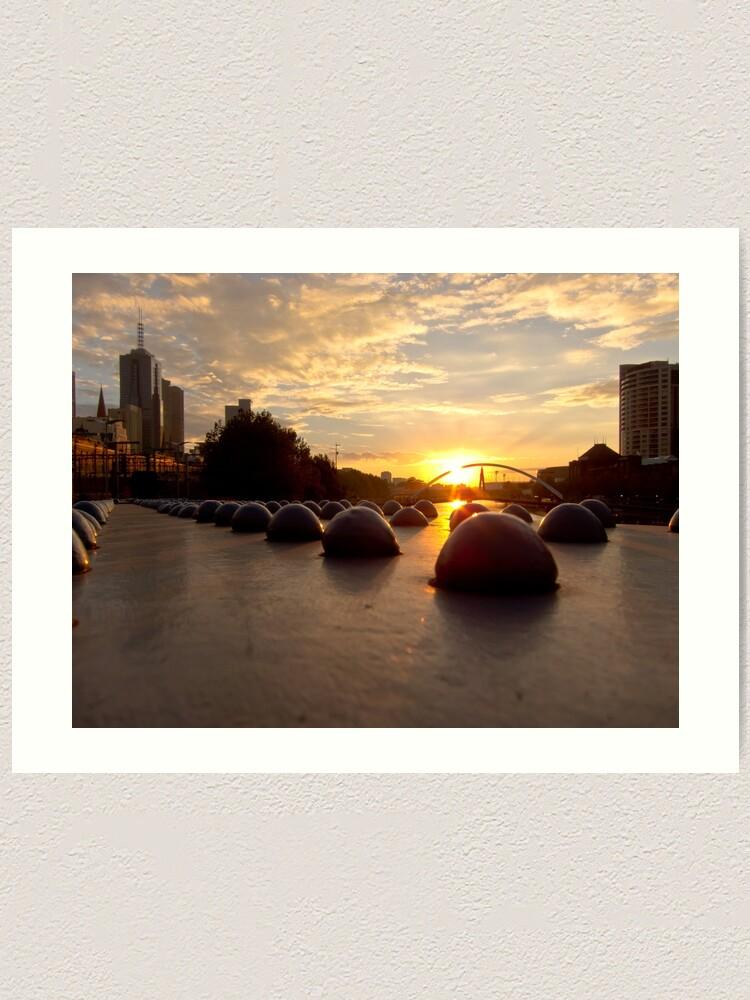 Alternate view of Riveting Southbank Sunrise Art Print