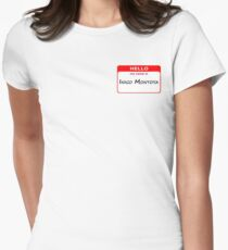 Hello, My Name Is Inigo Montoya - Red Womens Fitted T-Shirt