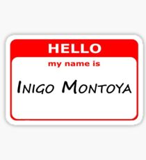 Hello, My Name Is Inigo Montoya - Red Sticker