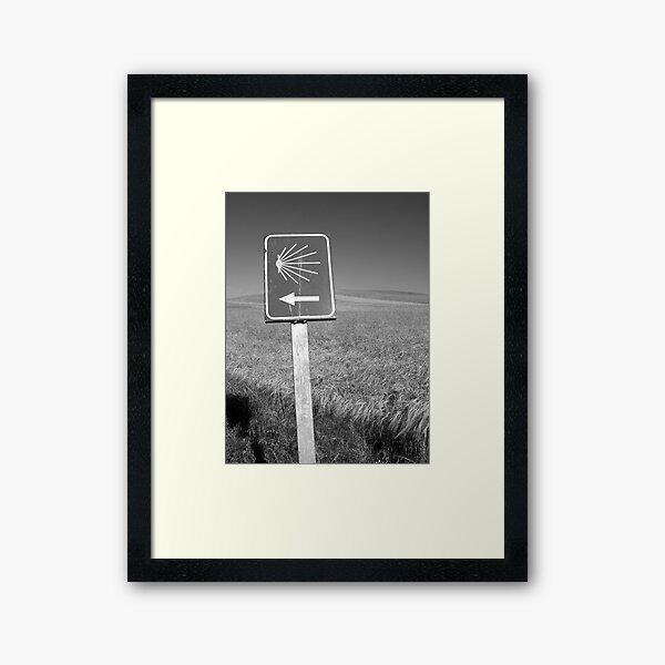 The familiar Camino marker Framed Art Print