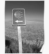 The familiar Camino marker Poster