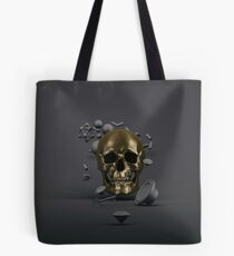 Golden Skull Tote Bag