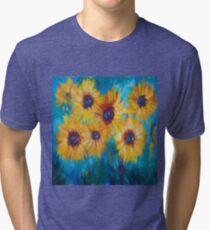 Impressionistic Sunflowers Tri-blend T-Shirt