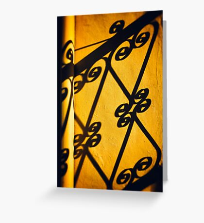 Gutter and ornate shadows Greeting Card