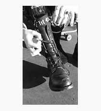 These boots were made for... Photographic Print