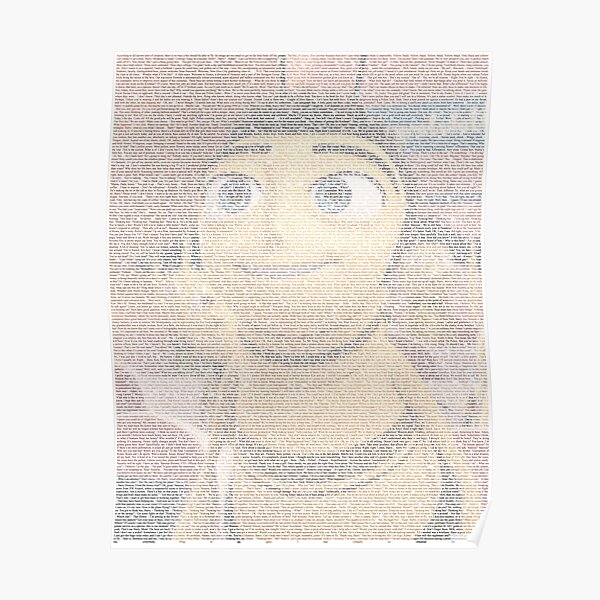 Barry Benson made using the Bee Movie Script Poster