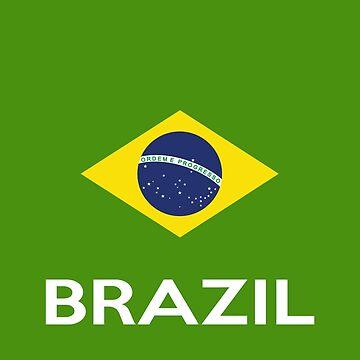 Brazilian Pride - Brazil National Flag by coolstuffofaz