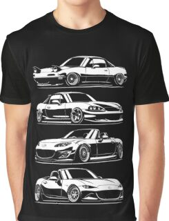Generations. Mazda MX5 Miata Graphic T-Shirt