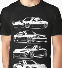 Generations. MX5 Miata Graphic T-Shirt
