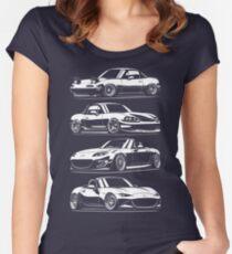Generations. MX5 Miata Women's Fitted Scoop T-Shirt