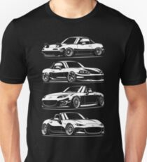 Generations. MX5 Miata Slim Fit T-Shirt