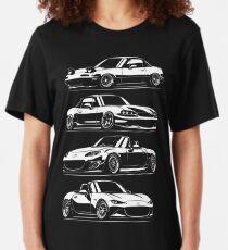 Generations. MX5 Miata Slim Fit T-Shirt