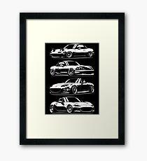 Generations. Mazda MX5 Miata Framed Print