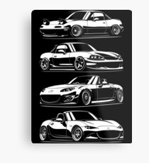 Generations. MX5 Miata Metal Print
