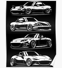 Generations. MX5 Miata Poster