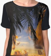 Coconut Tree in Belize Women's Chiffon Top