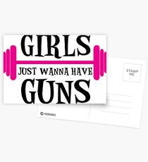 girls just wanna have guns, girls, bodybuilding Postcards