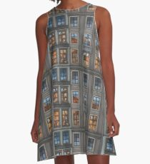 Mosaic of City A-Line Dress
