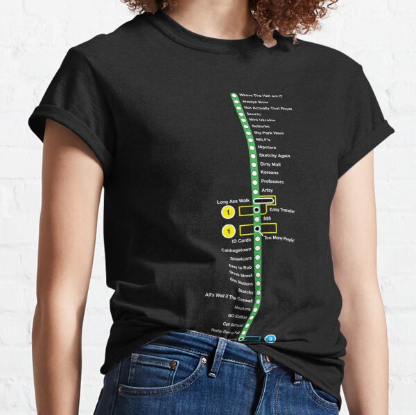 Line 2 Parody Map Classic T-Shirt