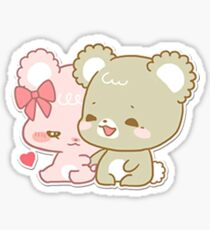sugar cubs - sitting together Sticker