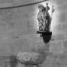 A statue of Saint James in a church by Richard McCaig