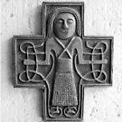 Decorative cross on an albergue wall by Richard McCaig