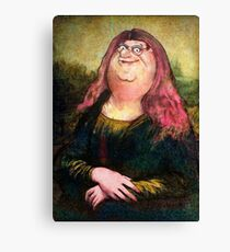 peter griffin as mona lisa Canvas Print