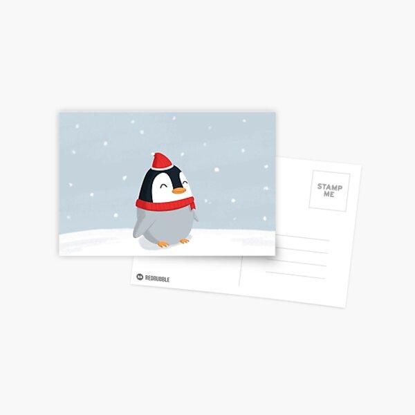 Christmas Penguin Postcard