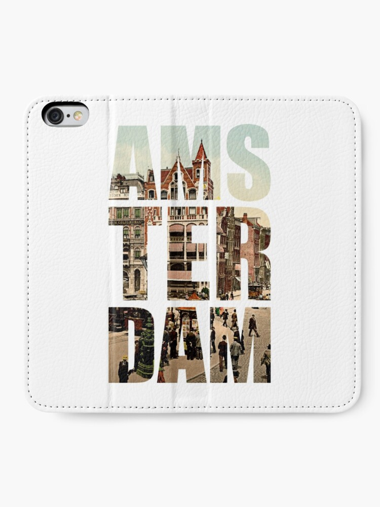 Alternate view of Old Amsterdam iPhone Wallet