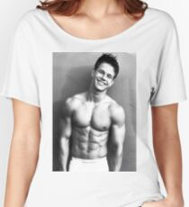 Young Marky Mark Wahlberg with Calvin Klein Women's Relaxed Fit T-Shirt