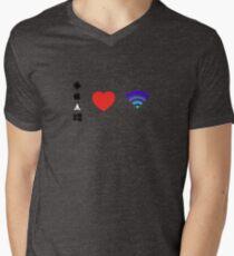 OS Love Wifi color Men's V-Neck T-Shirt