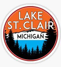 LAKE SAINT CLAIR MICHIGAN BOATING FISHING BOAT WATER JET SKI ST Sticker