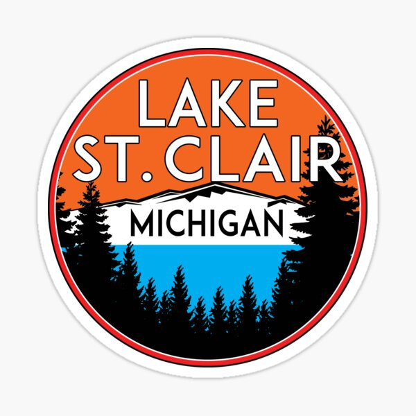 LAKE SAINT CLAIR MICHIGAN BOATING FISHING BOAT WATER JET SKI ST Sticker