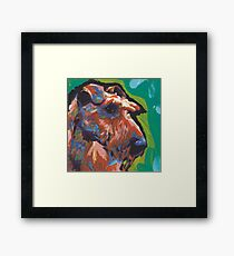 Irish Terrier Dog Bright colorful pop dog art Framed Print