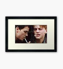 Leonardo Dicaprio and Marky Mark Wahlberg Framed Print