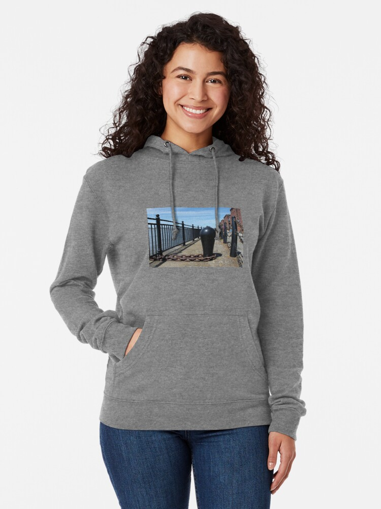Alternate view of Old Boat Chain Next To The River Mersey, Liverpool, Merseyside Lightweight Hoodie