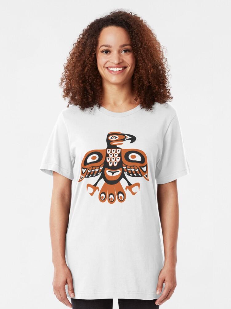 Alternate view of Bird - totem pole style Slim Fit T-Shirt