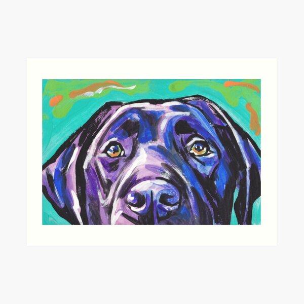 Labrador Retriever Dog Bright colorful pop dog art Art Print
