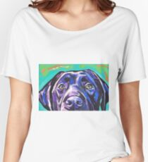 Labrador Retriever Dog Bright colorful pop dog art Women's Relaxed Fit T-Shirt