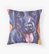 Labrador Retriever Dog Bright colorful pop dog art Throw Pillow