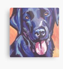 Lámina metálica Labrador Retriever Dog Bright colorful pop dog art