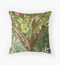 Pink Crape Myrtle Throw Pillow
