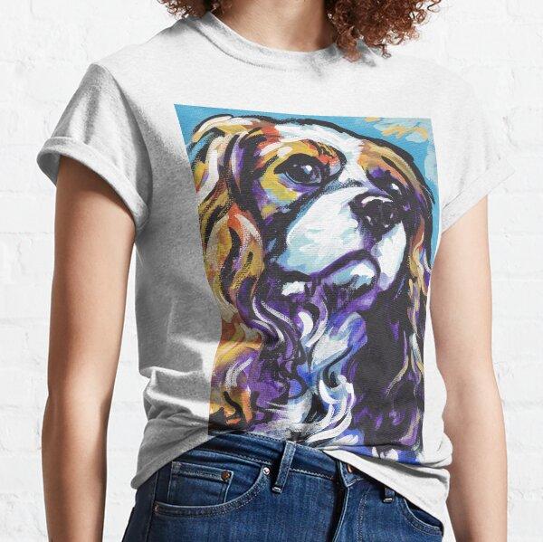 cavalier king charles spaniel Dog Bright colorful pop dog art Classic T-Shirt