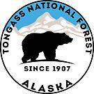 TONGASS NATIONAL FOREST ALASKA BEAR HIKING CAMPING SKIING by MyHandmadeSigns